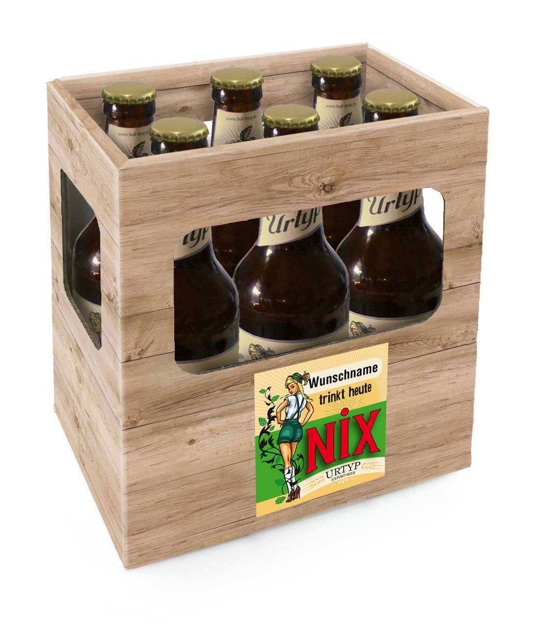 6er Bier Box Trinkt Heute Nix Namenseindruck Bull Bear De
