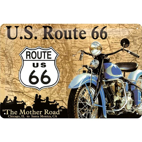 Metall-Schild ''Route 66''