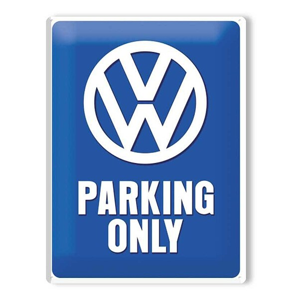 Metall-Schild ''VW Parking Only''