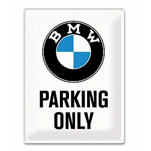 Metall-Schild ''BMW Parking Only''